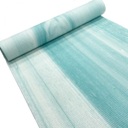 Oak & Reed YM4-1215 Teal 4 mm Reversible Yoga Mat Wrap Painstrokes Teal - Multi Color
