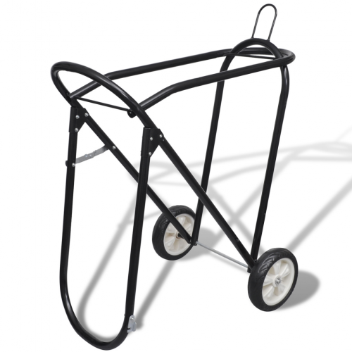 OnlineGymShop CB17454 Metal Foldable Saddle Rack with Wheels