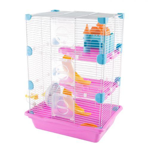 Petmaker M320258 Hamster Cage Habitat 3 Story Critter Gerbil & Small Animal Starter Kit