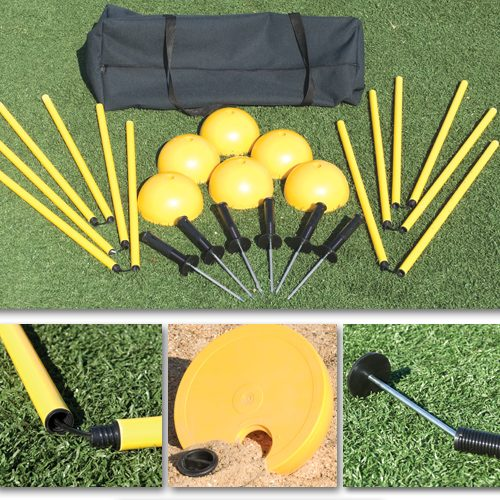 Sport Supply Group 1248555 Indoor/Outdoor Agility Pole System