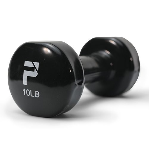 Sport Supply Group 1395591 Deluxe Vinyl Dumbbell Single - 10 lbs Black