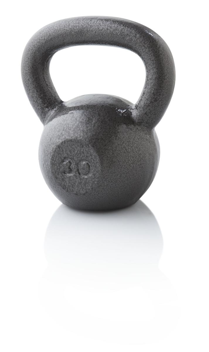 Weider WGGKB3013 30 lbs Cast Iron Kettlebell Gray