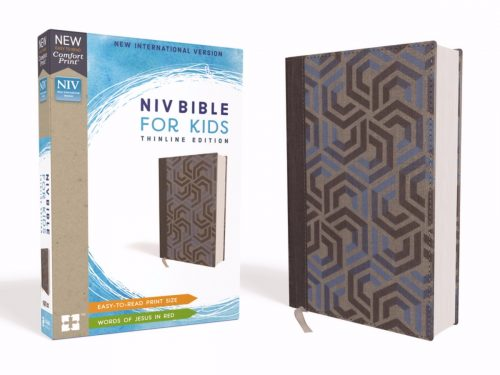 ZonderKidz 200423 NIV Bible for Kids Comfort Print - Blue Cloth Over Board