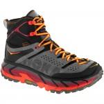 Hoka One One Tor Ultra HI WP: Hoka One One Women's Hiking Shoes Black/Flame