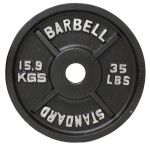 Usa Sports By Troy Barbell 35 Lbs Olympic Plate In Black