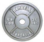 Usa Sports By Troy Barbell 35 Lbs Olympic Plate In Gray