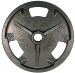 Vtx 45 Lbs. Pro Grip Olympic 3-Hole Wide Flange Plates (Go-045V)
