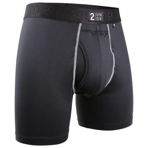 "2UNDR Power Shift 6"" Boxer Brief Solids: 2UNDR Athletic Apparel"