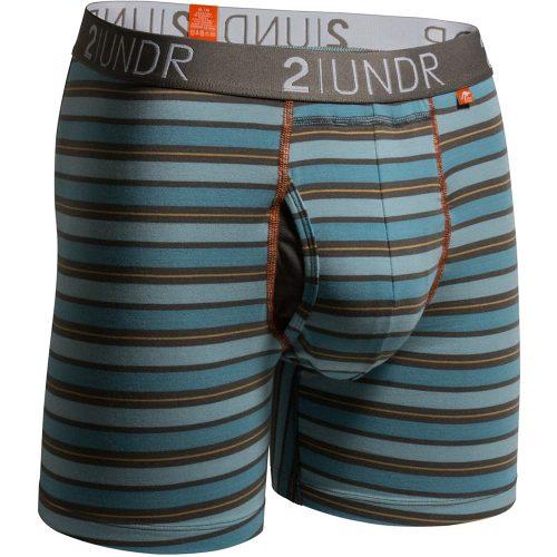 "2UNDR Swing Shift 6"" Boxer Briefs Stripes: 2UNDR Athletic Apparel"
