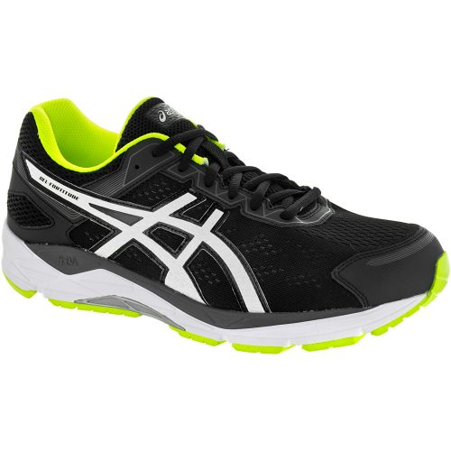 ASICS GEL-Fortitude 7: ASICS Men's Running Shoes Black/White/Safety Yellow