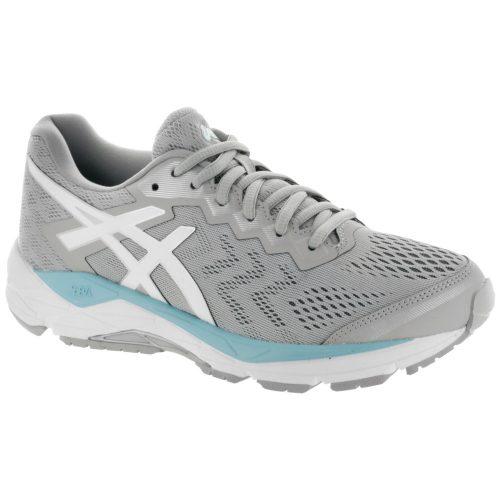 ASICS GEL-Fortitude 8: ASICS Women's Running Shoes Mid Grey/White/Porcelain Blue