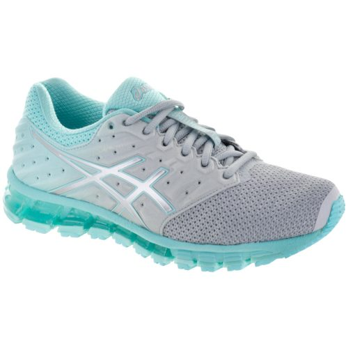 ASICS GEL-Quantum 180 2 MX: ASICS Women's Running Shoes Mid Grey/Aruba Blue/Mid Grey