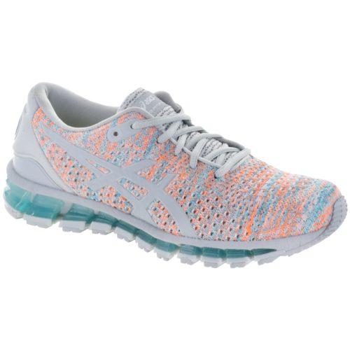 ASICS GEL-Quantum 360 Knit: ASICS Women's Running Shoes Glacier Grey/Orange Pop/Aruba Blue