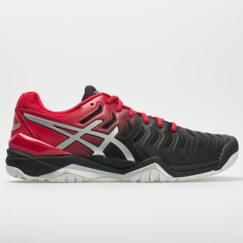 ASICS GEL-Resolution 7: ASICS Men's Tennis Shoes Black/Silver