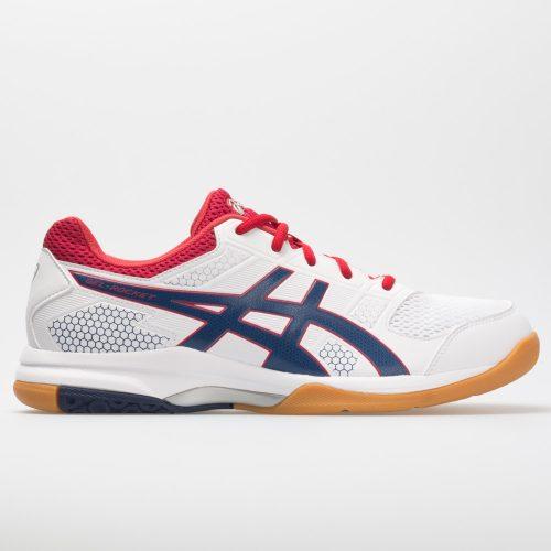 ASICS GEL-Rocket 8: ASICS Men's Indoor, Squash, Racquetball Shoes White/Deep Ocean