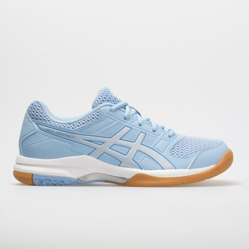 ASICS GEL-Rocket 8: ASICS Women's Indoor, Squash, Racquetball Shoes Airy Blue/Silver/White