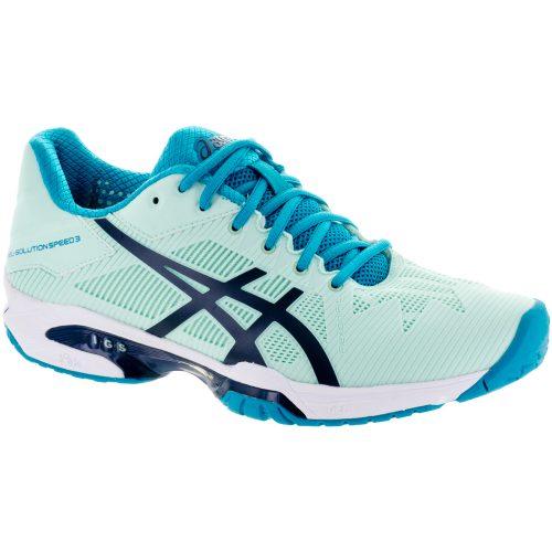 ASICS GEL-Solution Speed 3: ASICS Women's Tennis Shoes Glacier Sea/Indigo Blue/Aqua