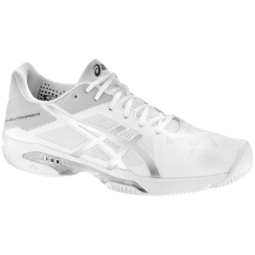 ASICS GEL-Solution Speed 3 Clay: ASICS Men's Tennis Shoes White/Silver