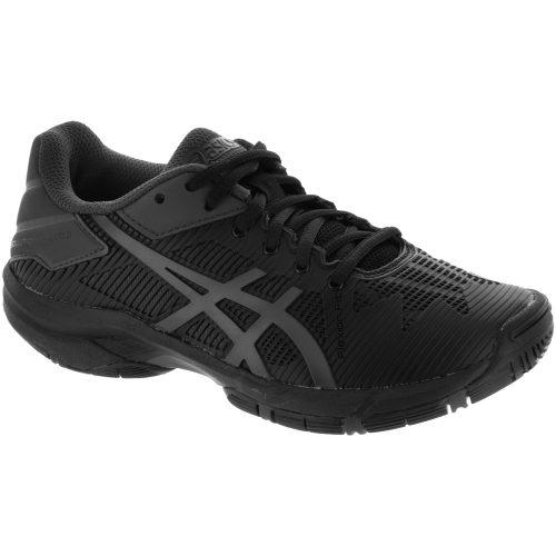 ASICS GEL-Solution Speed 3 Junior Black/Dark Grey: ASICS Junior Tennis Shoes