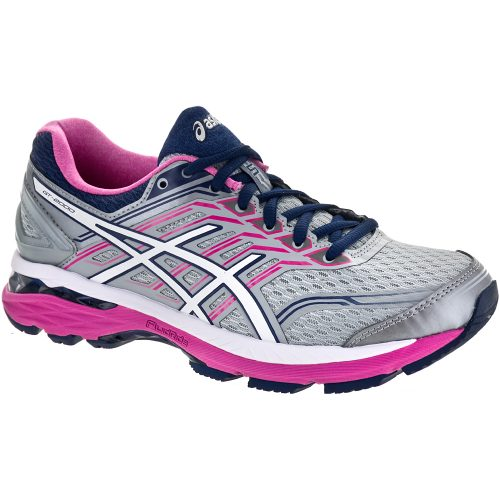 ASICS GT-2000 5: ASICS Women's Running Shoes Midgrey/White/Pink Glow