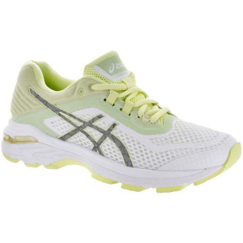 ASICS GT-2000 6 Lite-Show: ASICS Women's Running Shoes White/Silver/Limelight