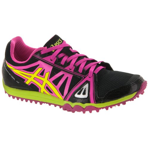 ASICS Hyper-Rocketgirl XC Spike: ASICS Women's Running Shoes Black/Hot Pink/Flash Yellow