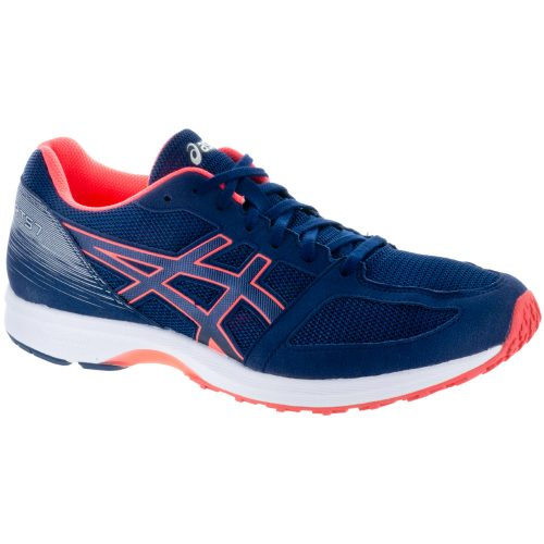 ASICS Lyteracer TS 7: ASICS Men's Running Shoes Indigo Blue/White/Flash Coral