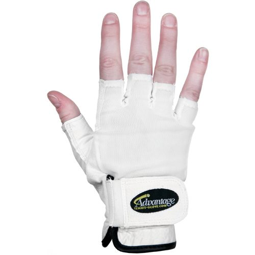 Advantage Tennis Glove Half Finger Right: Advantage Men's Tennis Gloves