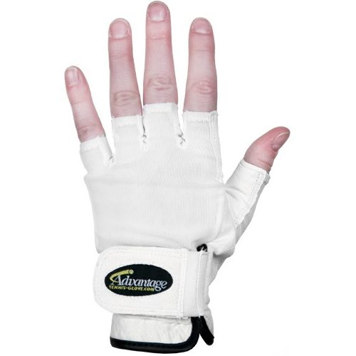 Advantage Tennis Glove Half Left: Advantage Men's Tennis Gloves