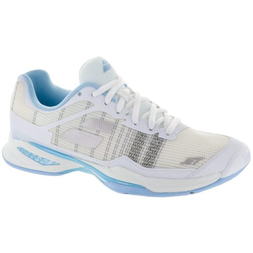 Babolat Jet Mach I: Babolat Women's Tennis Shoes White/Sky Blue