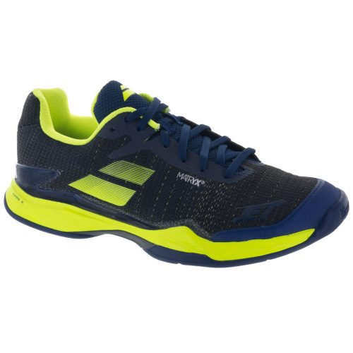 Babolat Jet Mach II Clay: Babolat Men's Tennis Shoes Estate Blue/Fluo Yellow