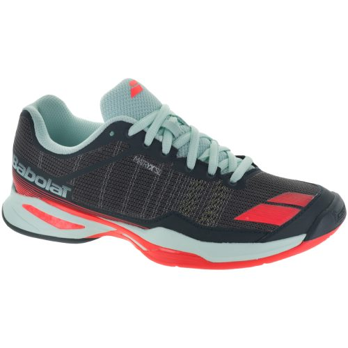 Babolat Jet Team Clay: Babolat Women's Tennis Shoes Grey/Blue/Red