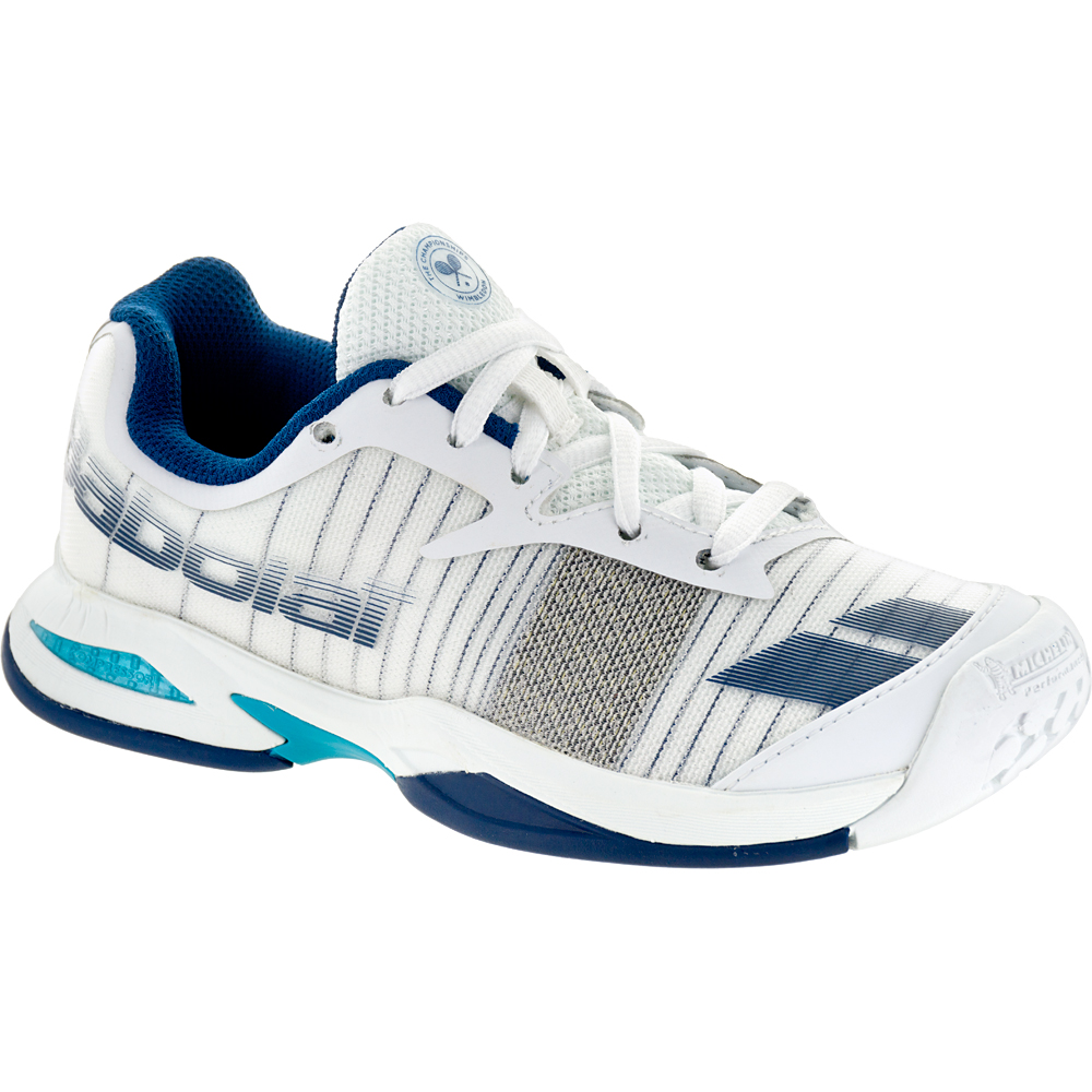 Babolat Jet Wimbledon Junior White: Babolat Junior Tennis Shoes