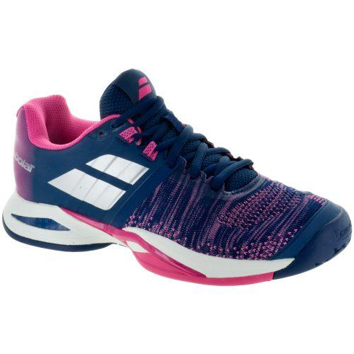 Babolat Propulse Blast: Babolat Women's Tennis Shoes Estate Blue/Fandango Pink
