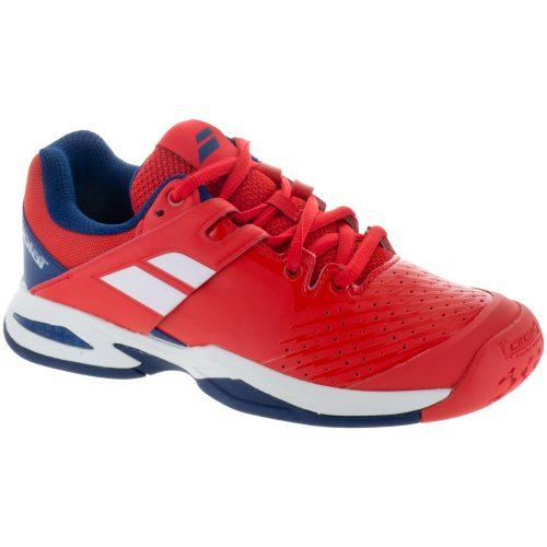 Babolat Propulse Fury Junior Bright Red/Estate Blue: Babolat Junior Tennis Shoes
