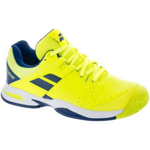 Babolat Propulse Fury Junior Fluo Yellow/Estate Blue: Babolat Junior Tennis Shoes