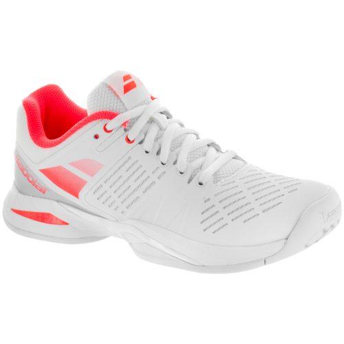 Babolat Propulse Team: Babolat Women's Tennis Shoes White/Fluro Red