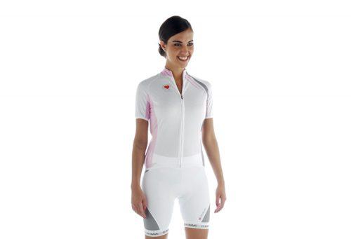 Biemme Strips Cycling Jersey - Women's - white/pink, medium