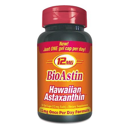 BioAstin Hawaiian Astaxanthin 12mg, Gel Capsules - 50 ea