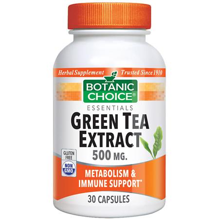 Botanic Choice Green Tea Extract 500 mg Herbal Supplement Capsules - 30 ea.