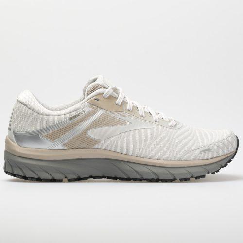 Brooks Adrenaline GTS 18: Brooks Men's Running Shoes White/Grey/Tan