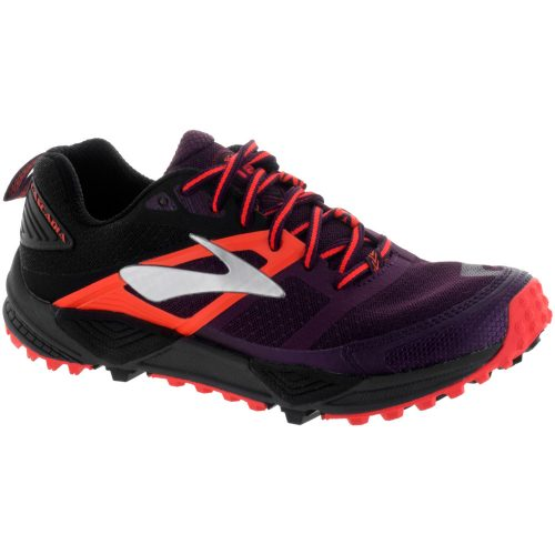 Brooks Cascadia 12: Brooks Women's Running Shoes Pickled Beet/Black/Fiery Coral