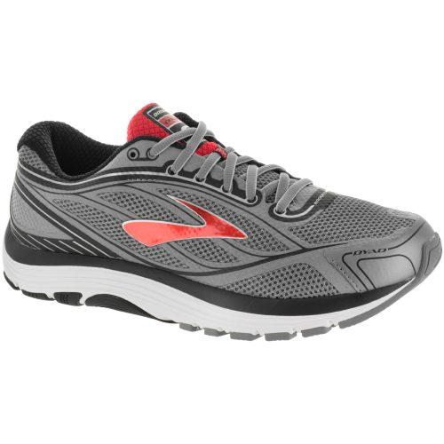 Brooks Dyad 9: Brooks Men's Running Shoes Primer Grey/High Rish Red/Black