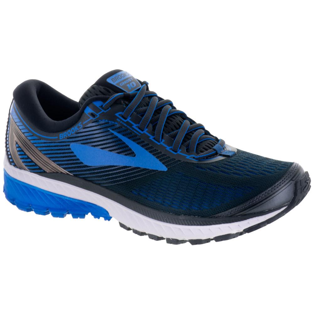 Brooks Ghost 10: Brooks Men's Running Shoes Ebony/Metallic Charcoal/Electric Brooks Blue