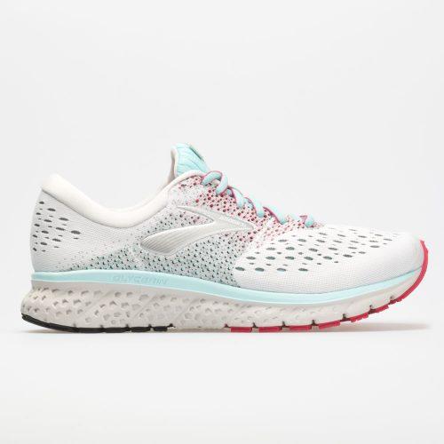 Brooks Glycerin 16: Brooks Women's Running Shoes White/Blue/Pink