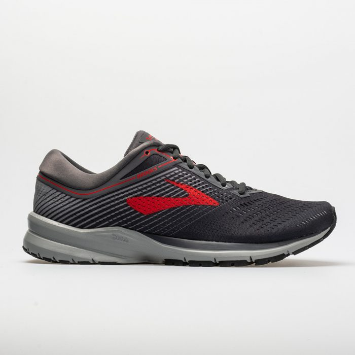 Brooks Launch 5: Brooks Men's Running Shoes Ebony/Grey/Red