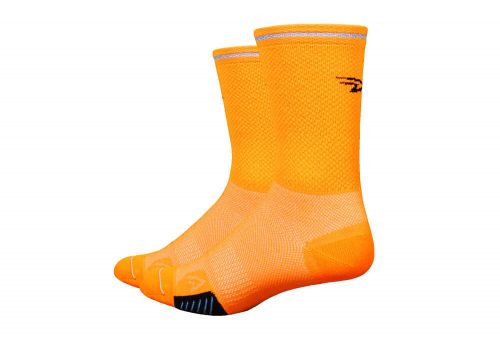 "DeFeet Cyclismo D-Logo 5"" Socks - orange, x-large"