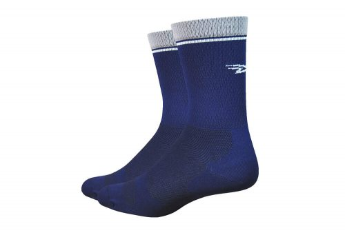 "DeFeet Levitator Lite 6"" Socks - navy, medium"