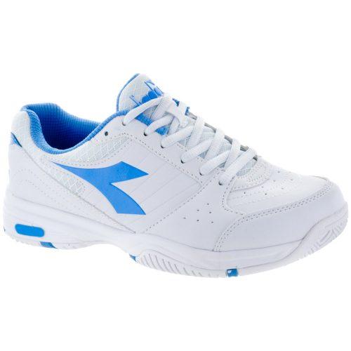 Diadora Smash: Diadora Women's Tennis Shoes White/Iris Blue
