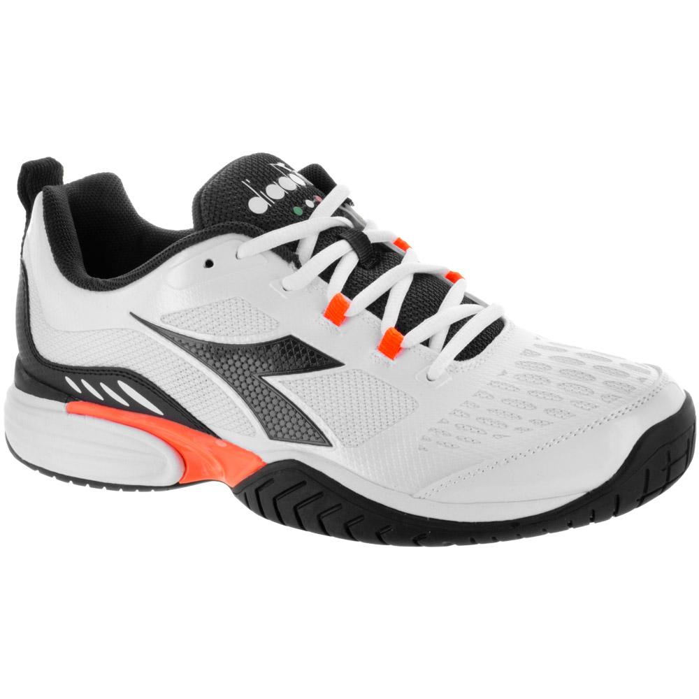 Diadora Speed Performance AG: Diadora Men's Tennis Shoes Super White/DK Smoke